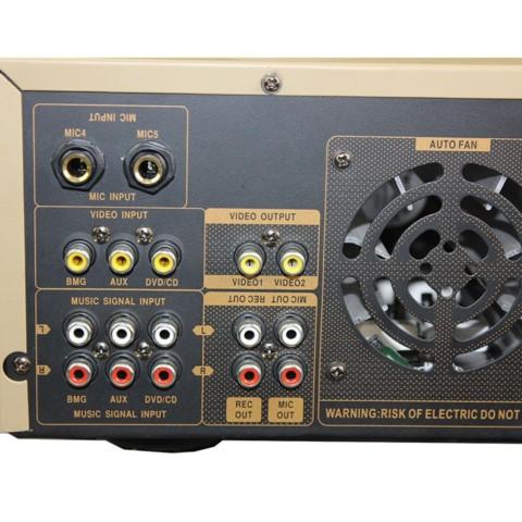 AV 2301家庭影院 功放机 家用电视音响功放器 金色家庭影院套装产