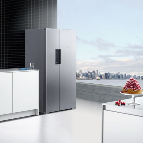 西门子 BCD-610W(KA92NV41TI) 610升 变频风冷无霜 对开门冰箱 竖显触摸屏 旋转制冰盒(不锈钢色)冰箱产品图片2
