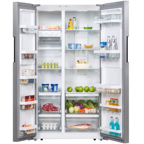 西门子 BCD-610W(KA92NV41TI) 610升 变频风冷无霜 对开门冰箱 竖显触摸屏 旋转制冰盒(不锈钢色)冰箱产品图片3