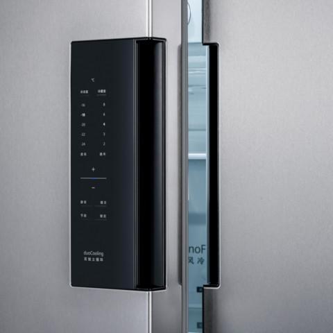 西门子 BCD-610W(KA92NV41TI) 610升 变频风冷无霜 对开门冰箱 竖显触摸屏 旋转制冰盒(不锈钢色)冰箱产品图片5