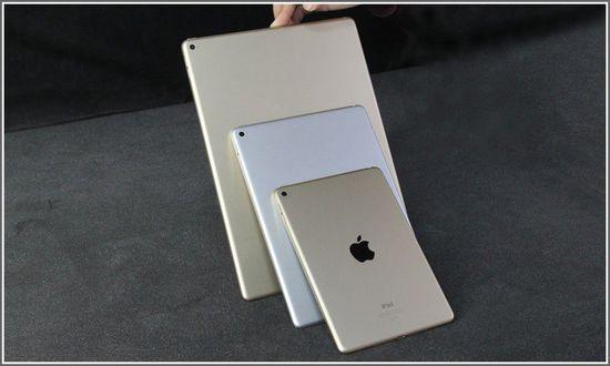 苹果iPad Pro 9.7英寸平板电脑(苹果A9 2G 128G 2048×1536 iOS9 WLAN)金色产品对比图图片2
