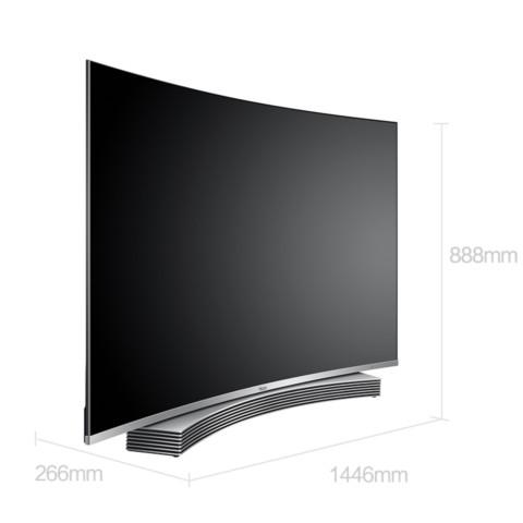 海尔LS65U91 65英寸纤薄4K曲面64G大存储音乐LED电视 黑色 平板电视产品图片1