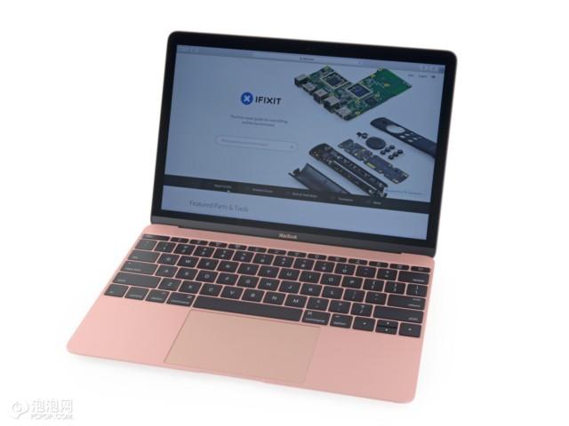 苹果MacBook 2016版 12英寸笔记本电脑 玫瑰金色 512GB闪存 MMGM2CH/A拆机图片1