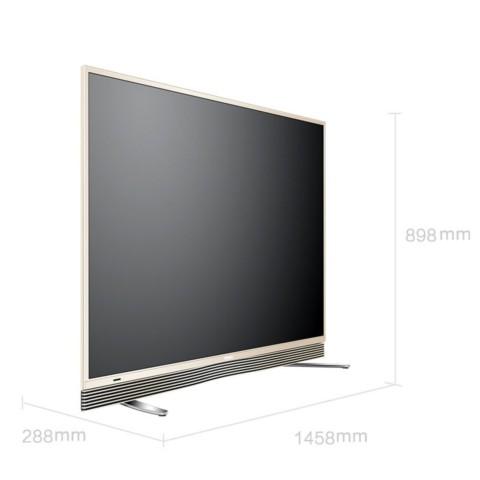 海尔模卡 MOOKA U65A9 65英寸纤薄4K直面64G大存储音乐LED电视 金色 平板电视产品图片2