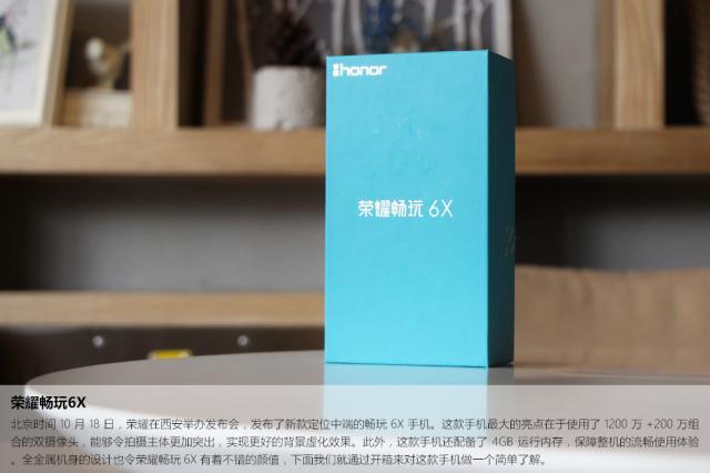 荣耀畅玩6X 4GB+64GB 全网通尊享版 铂光金开箱图片2