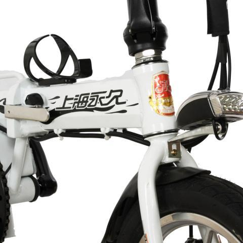 48v10ah成人迷你可折叠电动自行车 助力车代步车车酷威 白色电动车