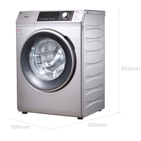 三洋WF810320BS0S 8公斤变频滚筒洗衣机 57°斜面板 中途添衣 桶自洁(浅咖亚银)洗衣机产品图片2