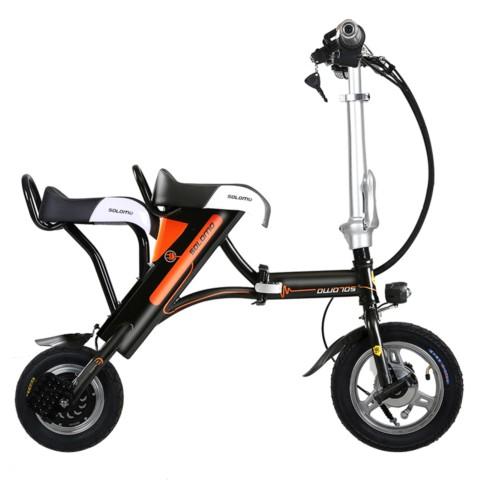 索罗门电动车 锂电池迷你折叠式 小电动自行车代步电瓶车代驾单车 H图片