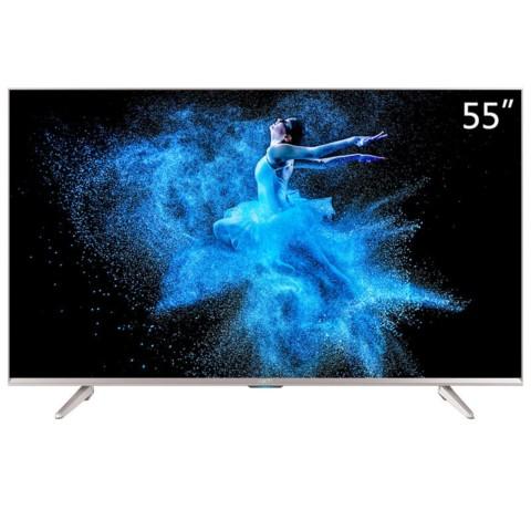 KKTVU55W 55英寸4K HDR 液晶平板智能电视机(香槟金色)平板电视产品图片1