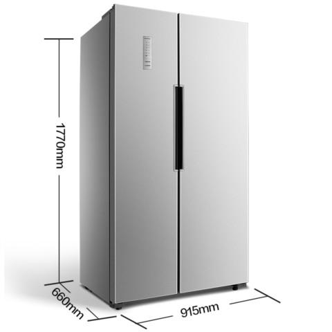 奥马BCD-488WK 488升 对开门冰箱 风冷无霜 电脑控温 隐形门把手(闪耀银)冰箱产品图片2