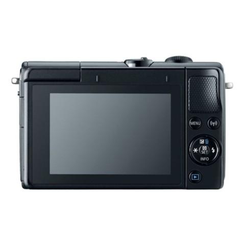 佳能EOS M100(15-45 IS STM/55-200 IS STM双镜头) 黑色整体外观图图片2