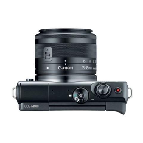 佳能EOS M100(15-45 IS STM/55-200 IS STM双镜头) 黑色整体外观图图片3