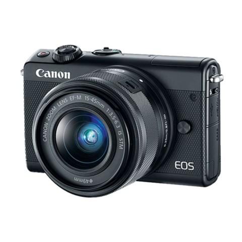 佳能EOS M100(15-45 IS STM/55-200 IS STM双镜头) 黑色整体外观图图片4
