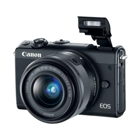 佳能EOS M100(15-45 IS STM/55-200 IS STM双镜头) 黑色整体外观图图片6