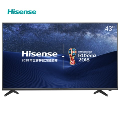 海信LED43EC300D 43英寸 全高清蓝光平板液晶电视金属背板 (深黑)平板电视产品图片1